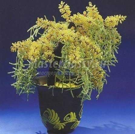 Мастер класс бисероплетение цветы мимоза - Делаем фенечки своими руками.