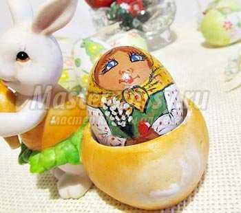 Роспись пасхального яйца. Матрешка. Мастер-класс