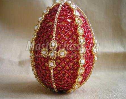 Яйца из бисера. Мастер класс