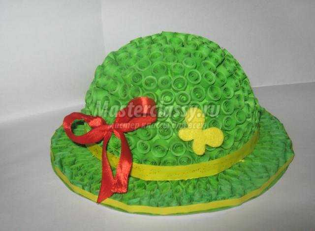 декоративная шляпка в технике