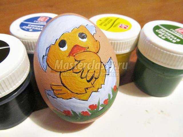 детское пасхальное яйцо с