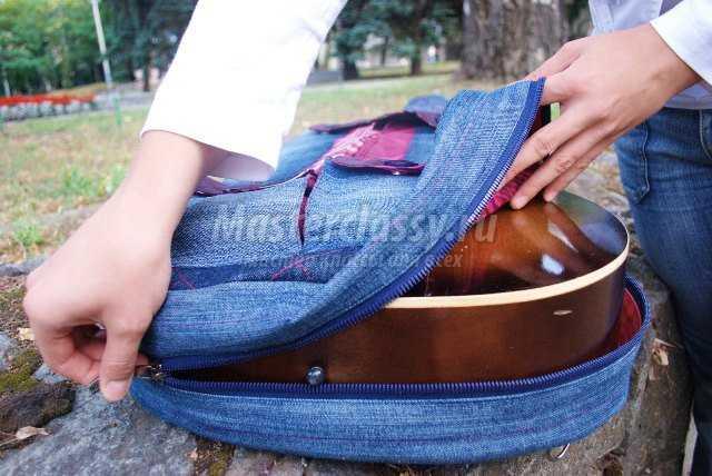 Чехол для гитары из старых джинсов своими руками