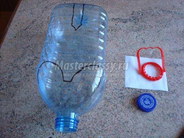 Поросенок из пластиковой бутылки поделка для