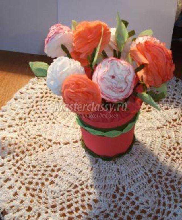 Фото корзинок с цветами из бумаги