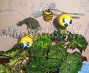 Очаровательные пчёлки из яиц от