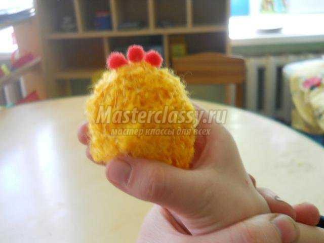 Цыпленок из ниток  пошаговое фото 119