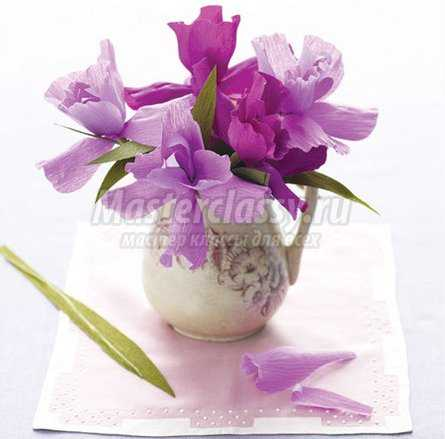 Гофрированные цветы мастер класс
