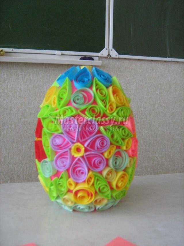 квиллинг. Пасхальное яйцо из