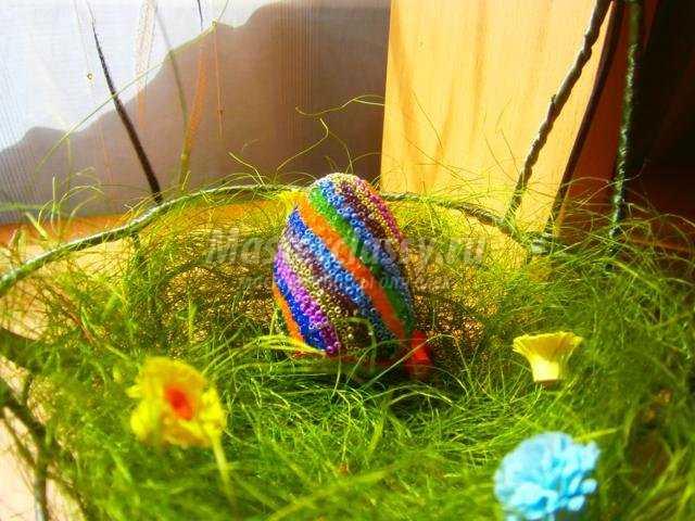 Яйцо хохлома бисер мастер класс идеи #15