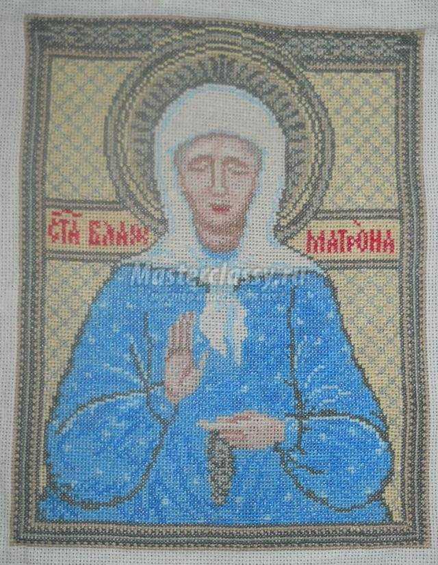 вышивка крестом иконы. Святая Матрона