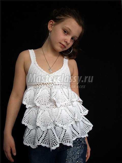 Вязание крючком платья мастер