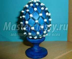 Пасхальное яйцо из бисера и стекляруса. Мастер класс с пошаговыми фото