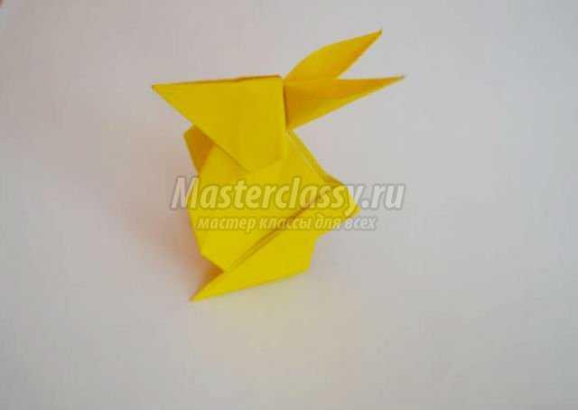 оригами животные. Зайчик