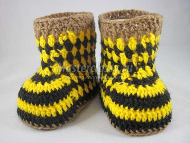 Вязание пинеток. Пчелки