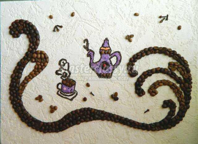 Композиция из кофейных зерен своими руками