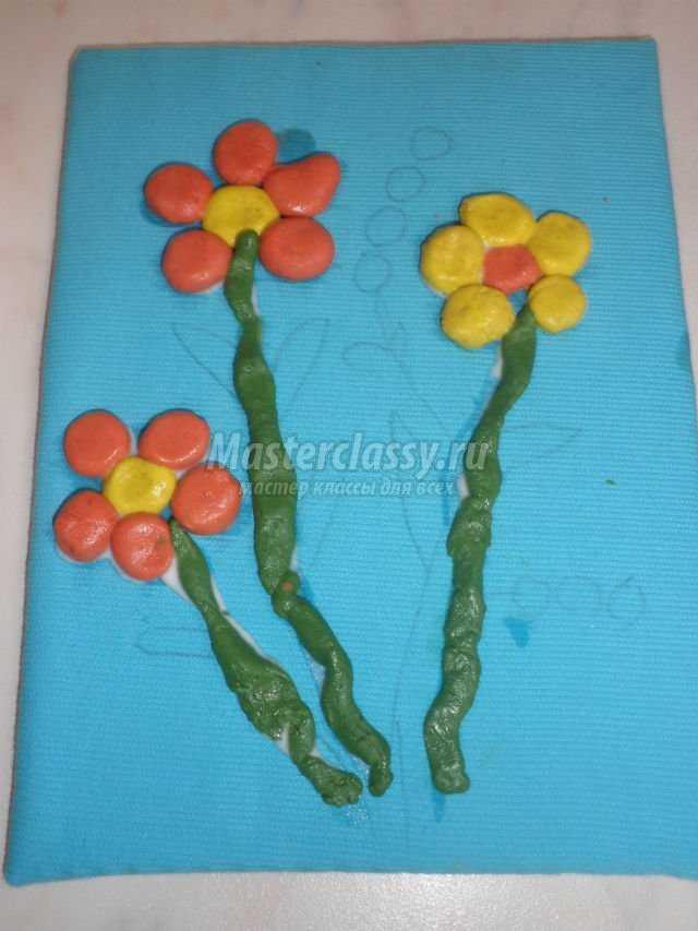 Цветы из соленого теста мастер класс