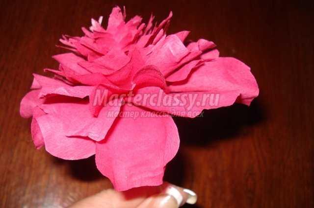 Цветы из гофры с пошаговым