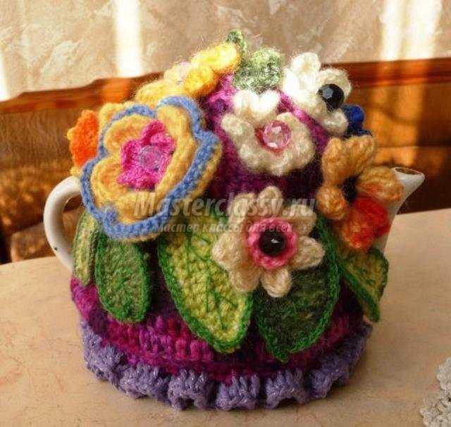 вязание крючком грелки на чайник
