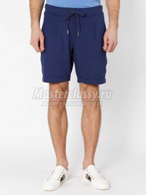 Скачать выкройке мужских шорт на резинке