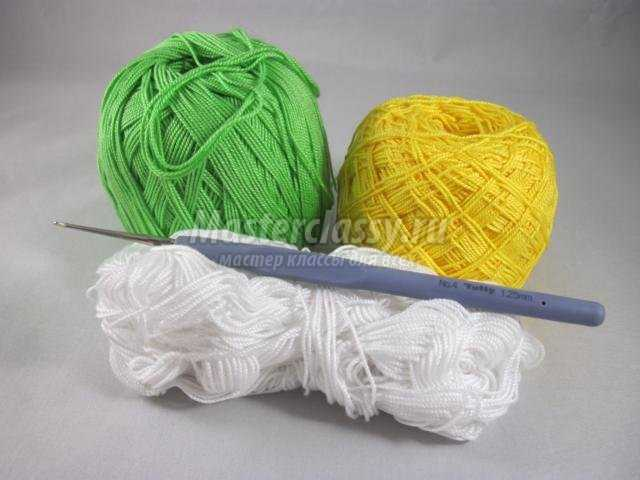 вязание крючком салфетки под