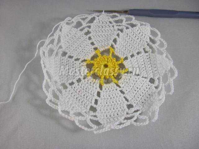 Вязание крючком для начинающих салфетка пошагово с