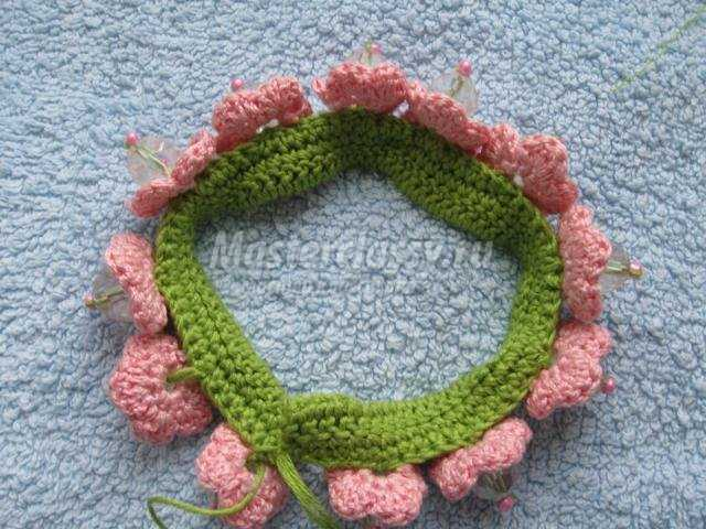 вязание крючком резинки для волос