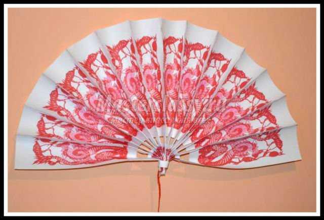 Китайский веер своими руками фото пошагово