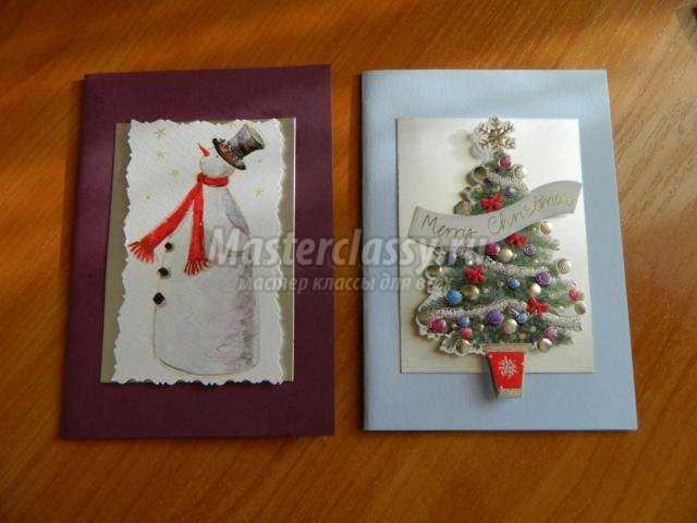 Оригинальные новогодние открытки своими руками 2016
