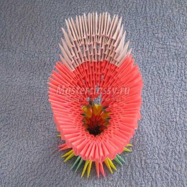 Модульное оригами петух