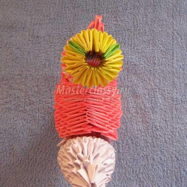 петух оригами