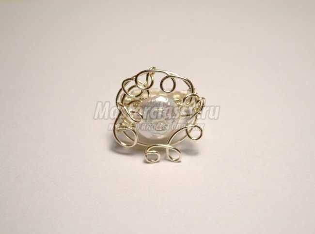 Кольцо с жемчугом своими руками