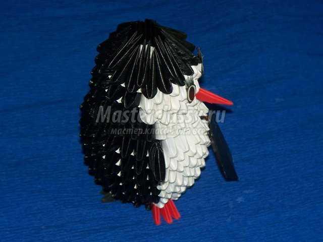 Модульное оригами Пингвин