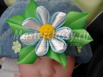 Цветок из лент своими руками мастер класс