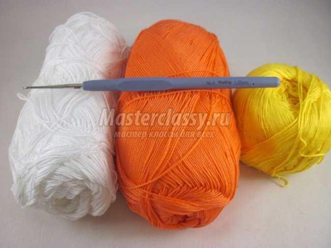 Вязание разными цветами крючком