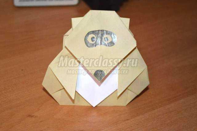 оригами животные. Енот
