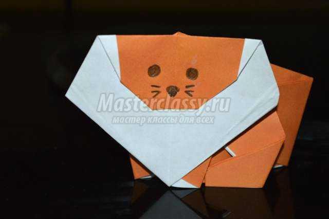 оригами животные. Лев