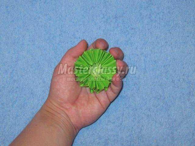 модульное оригами. Пальма