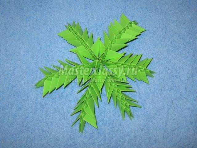 Пальма оригами по схеме