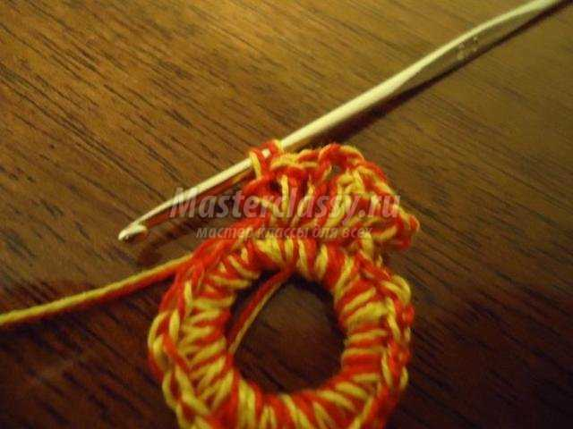 Вязание сережек крючком. Хохлома