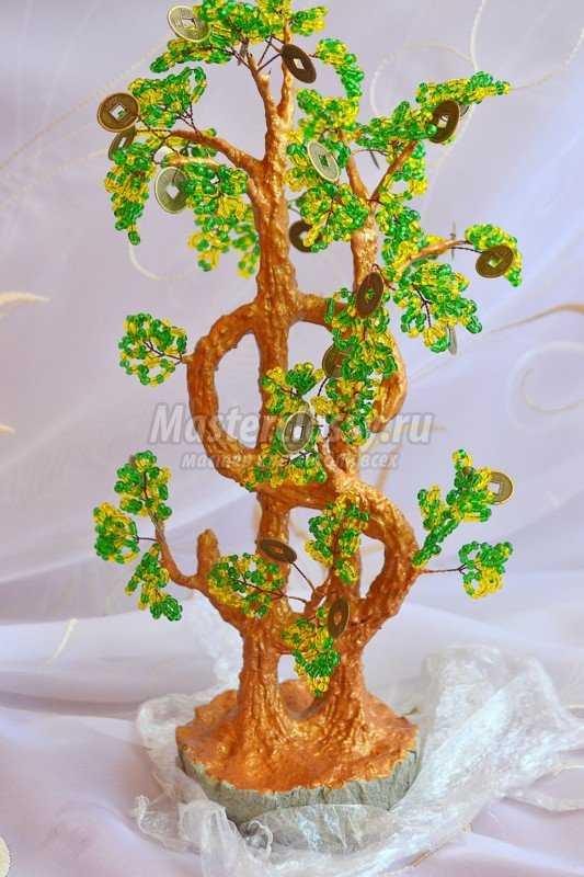 Дерево доллар из бисера мастер класс с пошаговым фото