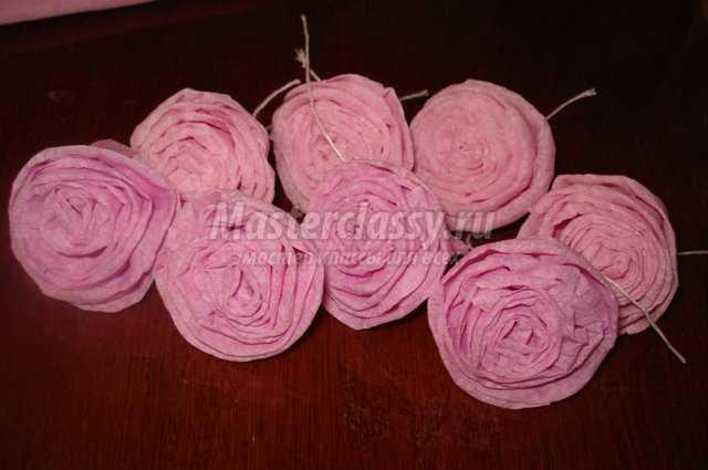 Поделки в школу композиция розовые