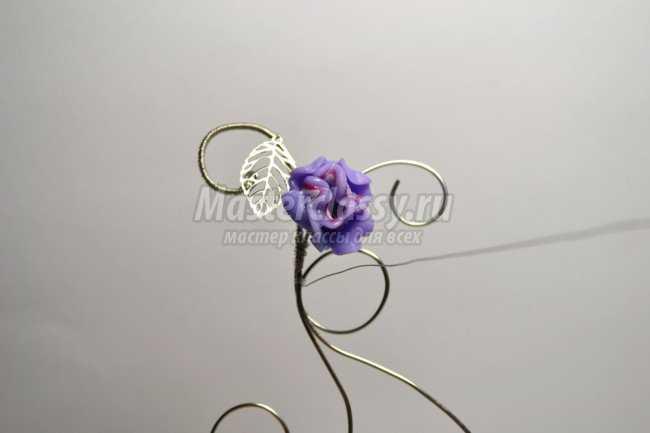 Wire Wrap. Кулон из проволоки с цветами