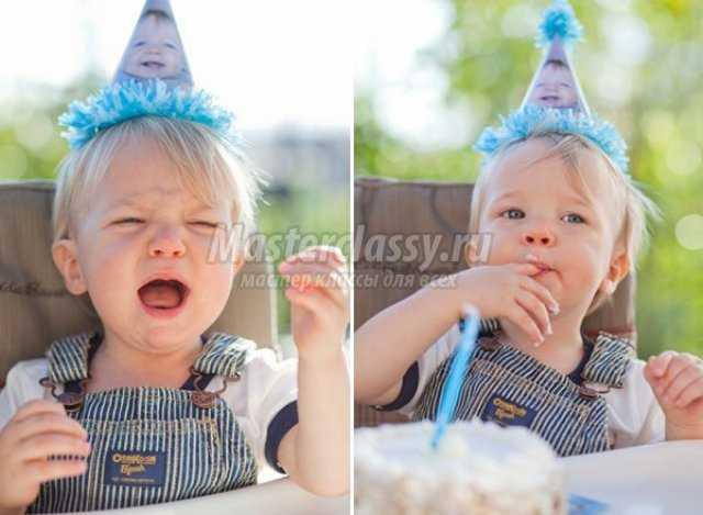 Оригинальная шапка-колпак на день рождения. Мас