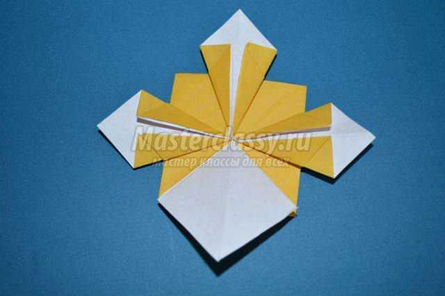 Оригами. Объемный цветок. Мастер-класс с пошаговыми фото