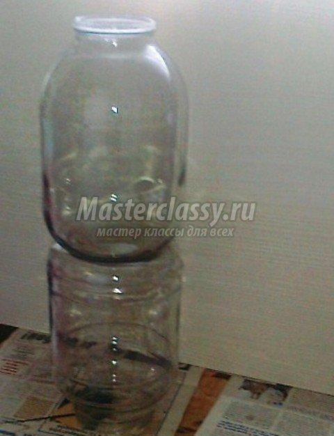 Напольная ваза из банки своими руками
