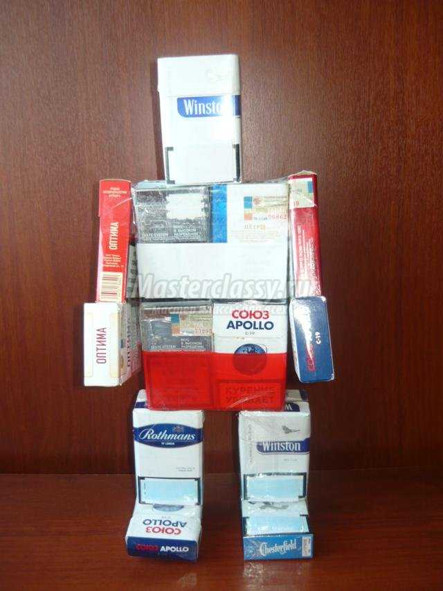 робот самоделкин из сигаретных