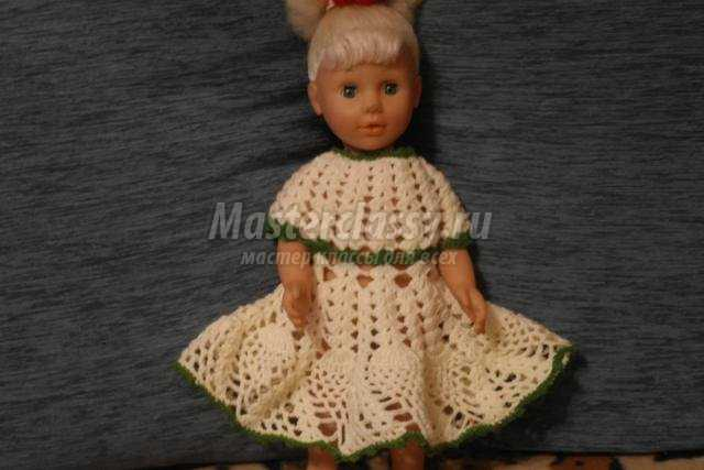 вязание крючком. Ажурное платье