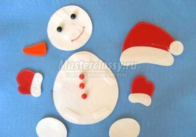 Снеговик из мишуры на стену своими руками