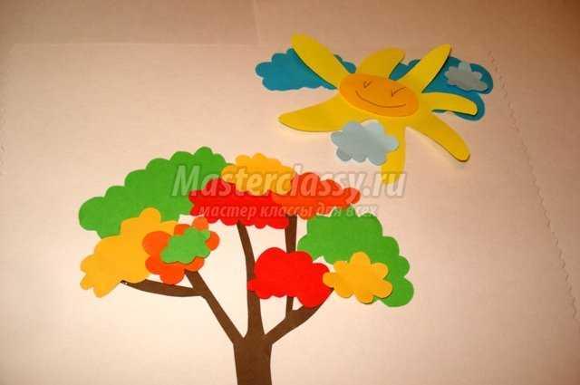 Детские аппликации из цветной бумаги от года