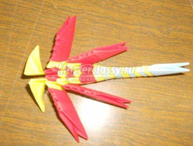 модульное оригами. Стрекоза